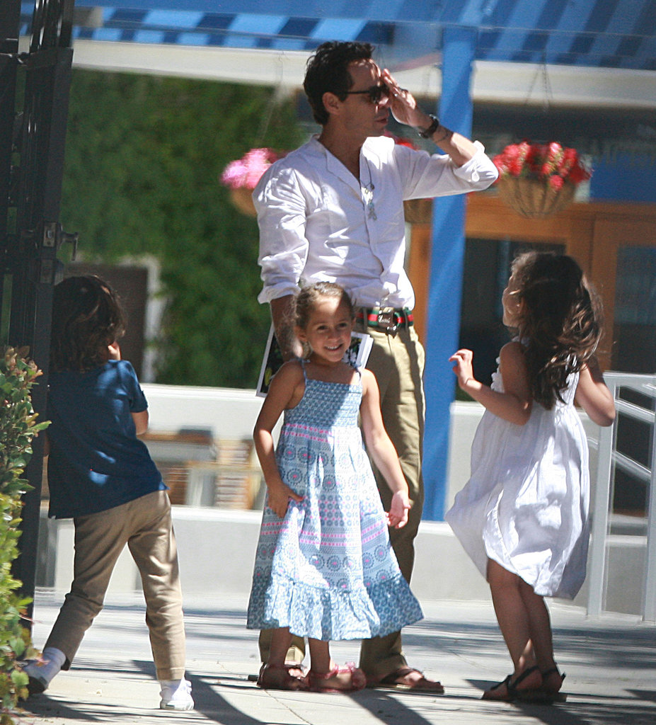 J Lo and Marc Anthony Keep It Friendly During a Day With Max and Emme