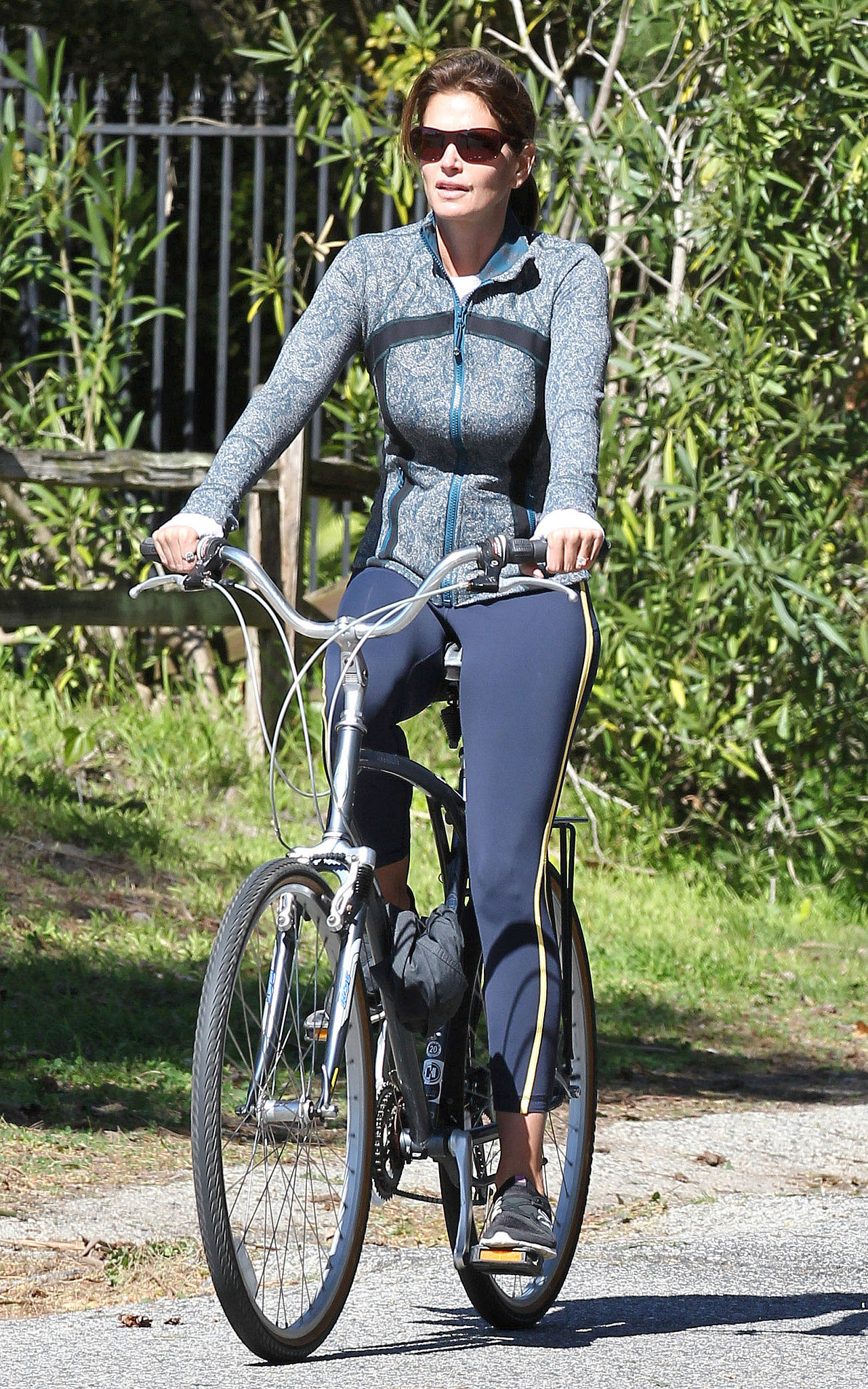 In February, Cindy Crawford got a workout on the streets of Malibu, CA.