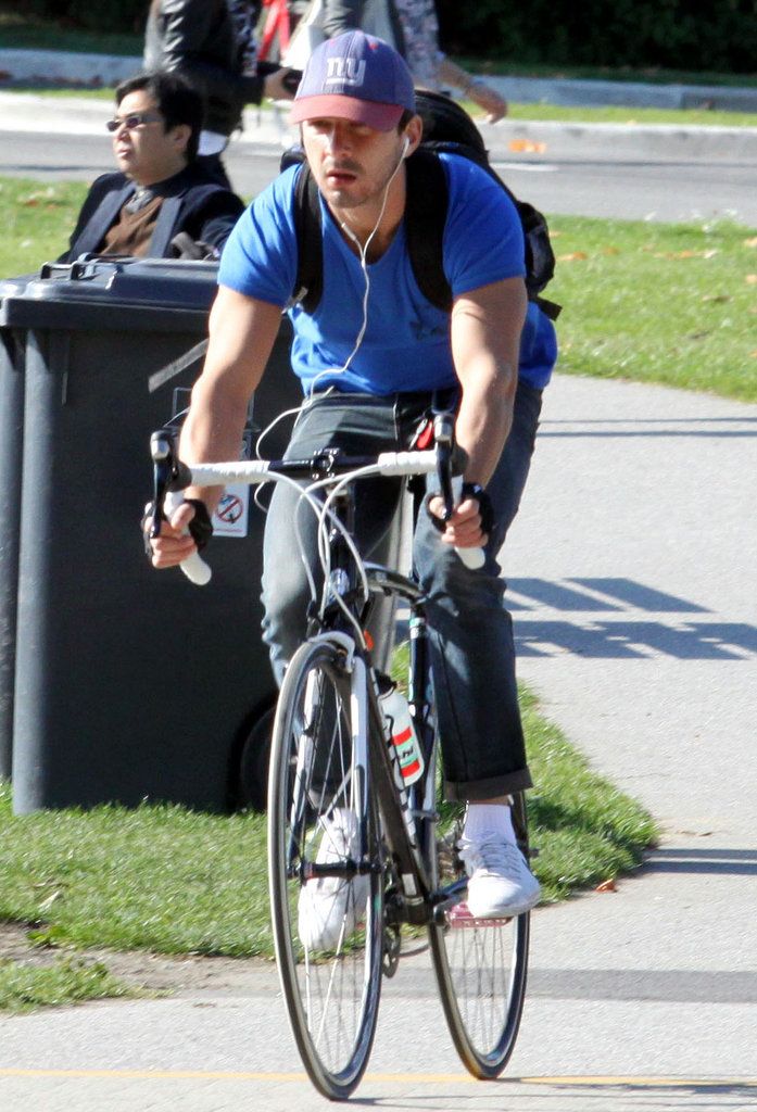 Shia LaBeouf pedaled around Vancouver back in October 2011.