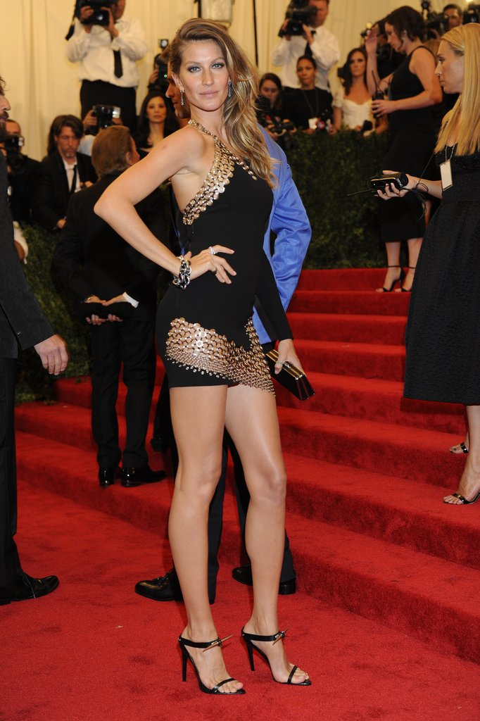 Who can forget Gisele Bündchen's tough-chick little black Anthony Vaccarello dress at the 2013 Met Gala? The grommets and mini hemline were everything.