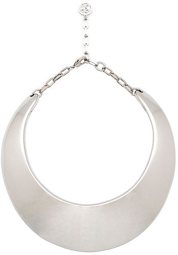 Ben Amun by Isaac Manevitz Collar Necklace in High-Shine Silver