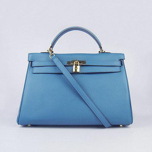 Hermes Birkin 25 Togo Calfskin Silver Hardware (Blue Jean)