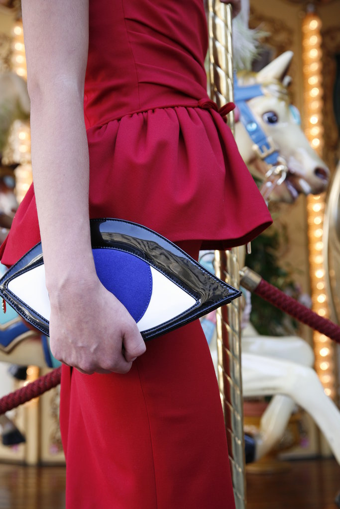 Leave it to Lulu Guinness to put her witty twist on the evil eye with this charming clutch ($684).