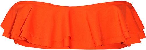 Tori Praver Hula ruffled bandeau bikini top
