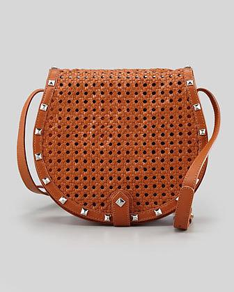 Rebecca Minkoff Skylar Wicker-Woven Crossbody Bag