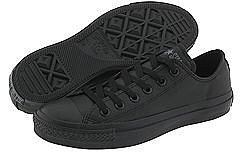Converse - Chuck Taylor All Star Leather Ox (Black Monochrome) - Footwear