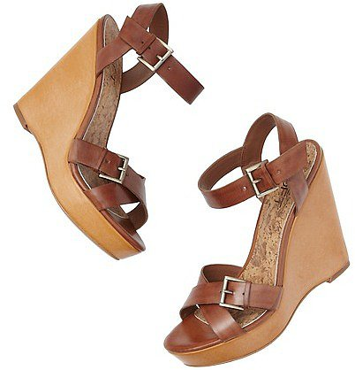 Kari Leather Wedge Sandals