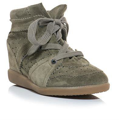 Isabel Marant Bobby suede hidden wedge trainers