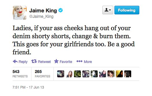 Jaime King did us all a favour with this tweet.