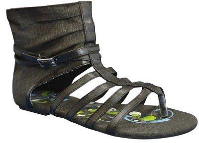 Women's Sun Luks® Printed Canvas Gladiator Sandal