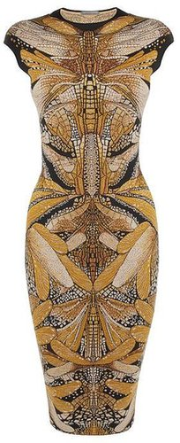 Dragonfly Jacquard Pencil Dress