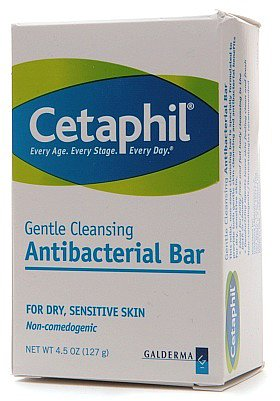 Cetaphil Gentle Cleansing Antibacterial Bar for Skin