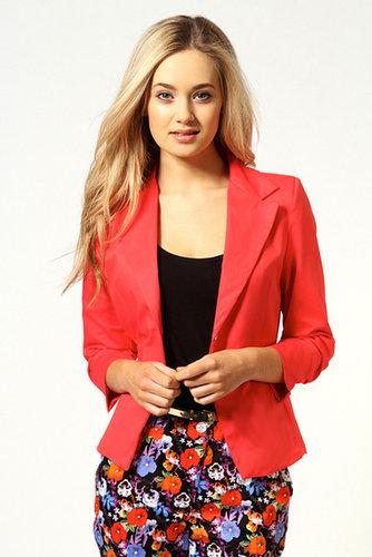 Elodie Ruched Sleeve Blazer