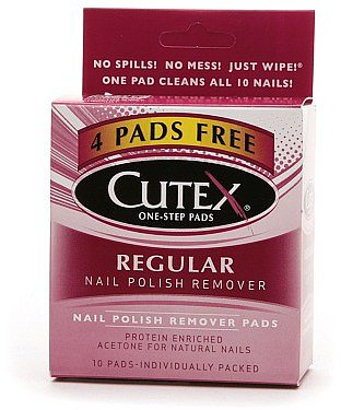 Cutex Nail Polish Remover Pads, Regular