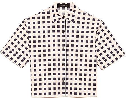 Preorder Thakoon Printed Poplin Cropped Shirt