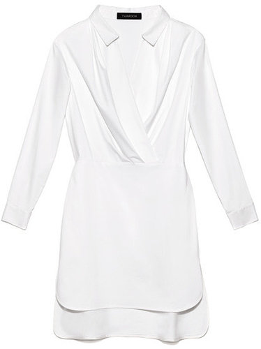 Preorder Thakoon Solid Poplin Wrap-Effect Dress
