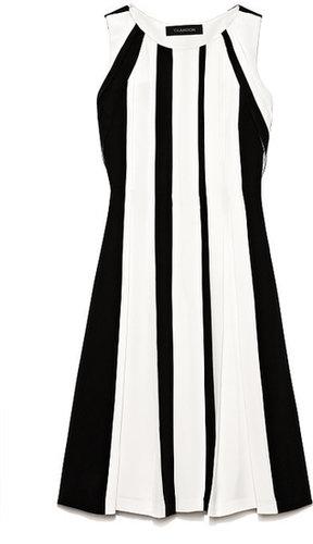 Preorder Thakoon Heavy Silk Contrast Pleated Dress