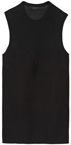 Calvin Klein Collection Black Yoke Top