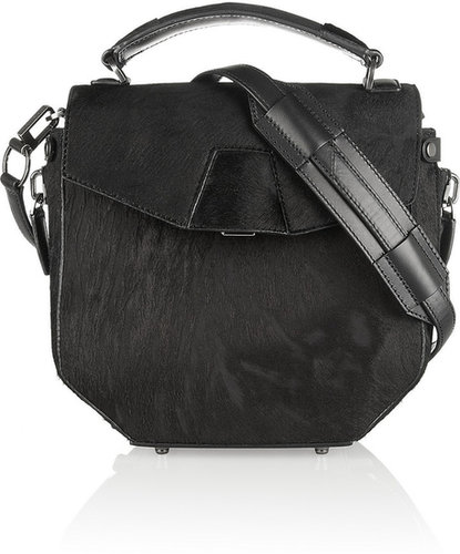 Alexander Wang Devere leather-trimmed calf hair shoulder bag