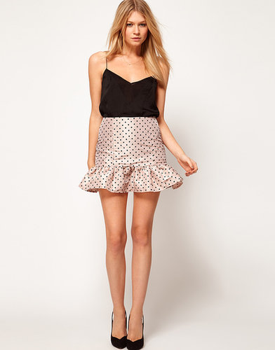 ASOS Spot Mini Skirt With Trumpet Hem