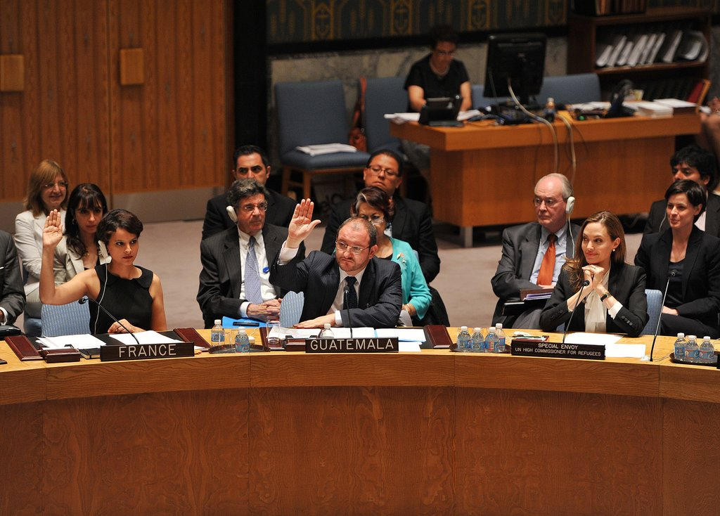 Angelina Jolie offered insights on the issue of war-zone rape based on her international travels.