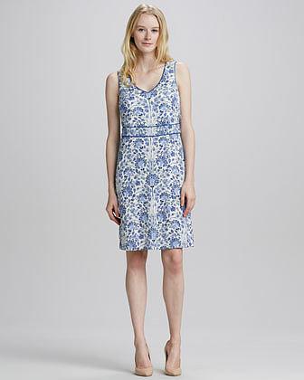 Tory Burch Gene Floral-Print Dress