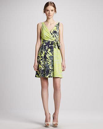 Yoana Baraschi Mixed-Print Party Dress