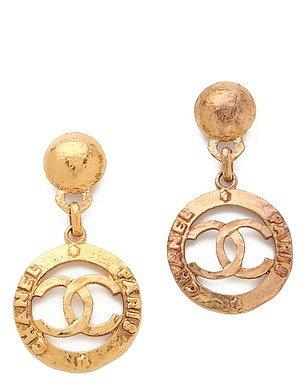 Wgaca vintage Vintage Chanel CC Paris Drop Earrings