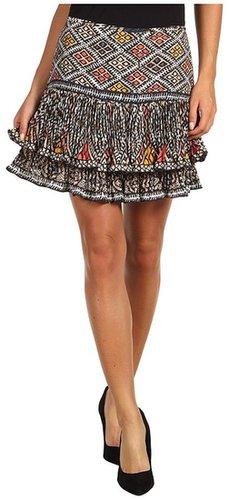 BCBGMAXAZRIA - Nima Pleated Skirt (Coral Reef Combo) - Apparel