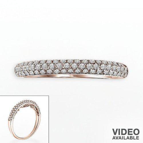 Simply vera vera wang 14k rose gold 1/4-ct. t.w. diamond band ring