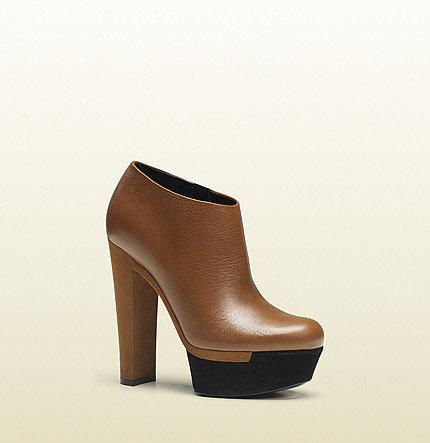 Alizee Cuir Leather Platform Bootie