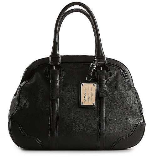 Dolce & Gabbana Patent Trim Leather Satchel