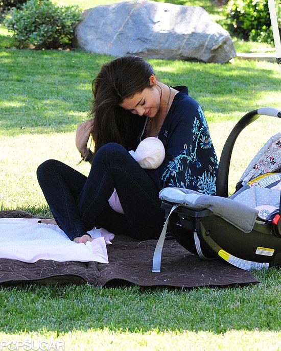 Selena Gomez cradled her baby sister, Gracie Elliot, in her arms in LA.