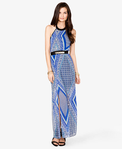 FOREVER 21 Tribal Print Halter Dress