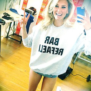 Bar-Refaeli-snapped-selfie-wearing-sweatshirt-her-name