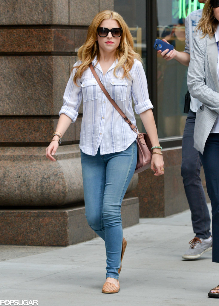 Anna Kendrick continued her work on The Last Five Years in NYC on Monday.