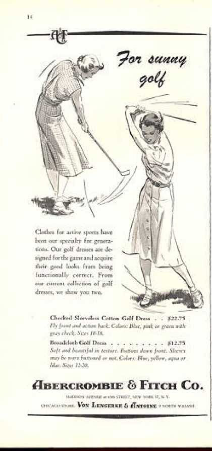 A golf dress at Abercrombie & Fitch for only $12.75? Was that real life?