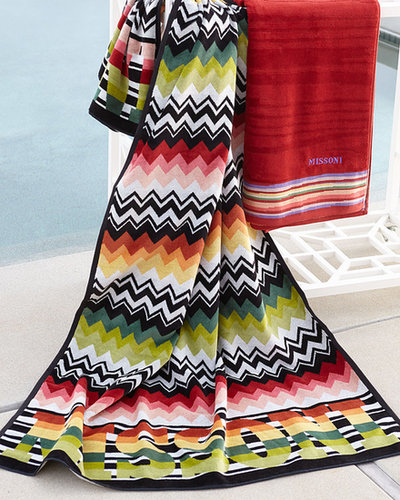 """Missoni Home Collection Red """"Niles"""" & """"Liam"""" Beach Towels"""