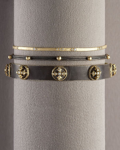 Armenta Wide Cross Bangle