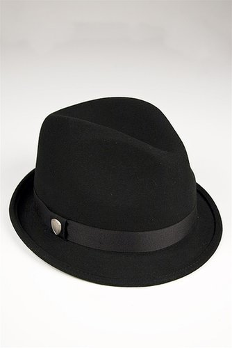Ben Sherman Felt Trilby Hat in Black