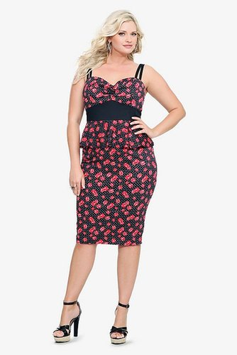 Retro Chic By Torrid - Dice & Polka Dot Peplum Dress