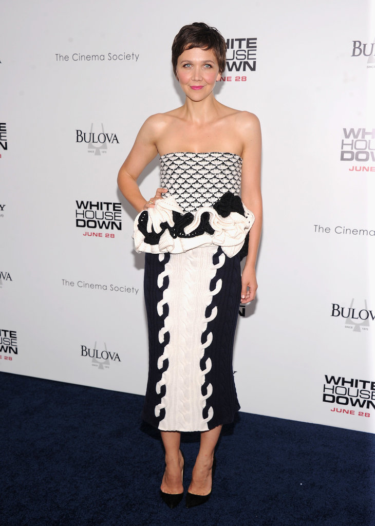 Maggie Gyllenhaal at the premiere of White House Down in New York.