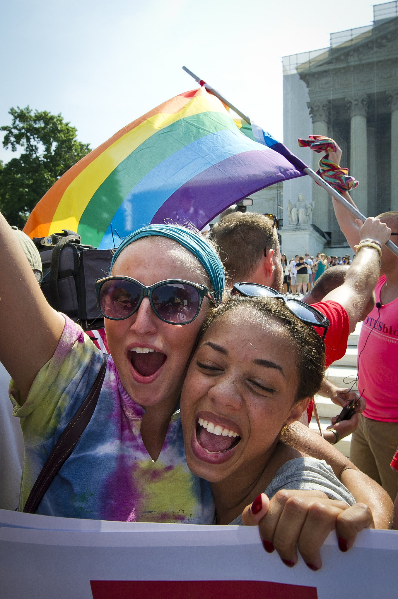 Gay rights activists cheered upon the US Supreme Court's ruling and the action against Prop 8 backers in Washington DC on Wednesday.