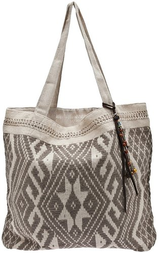 Jade Tribe hand-woven tote bag