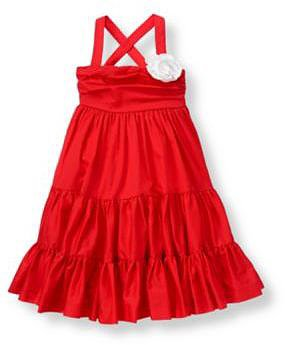 Flower Corsage Tiered Dress