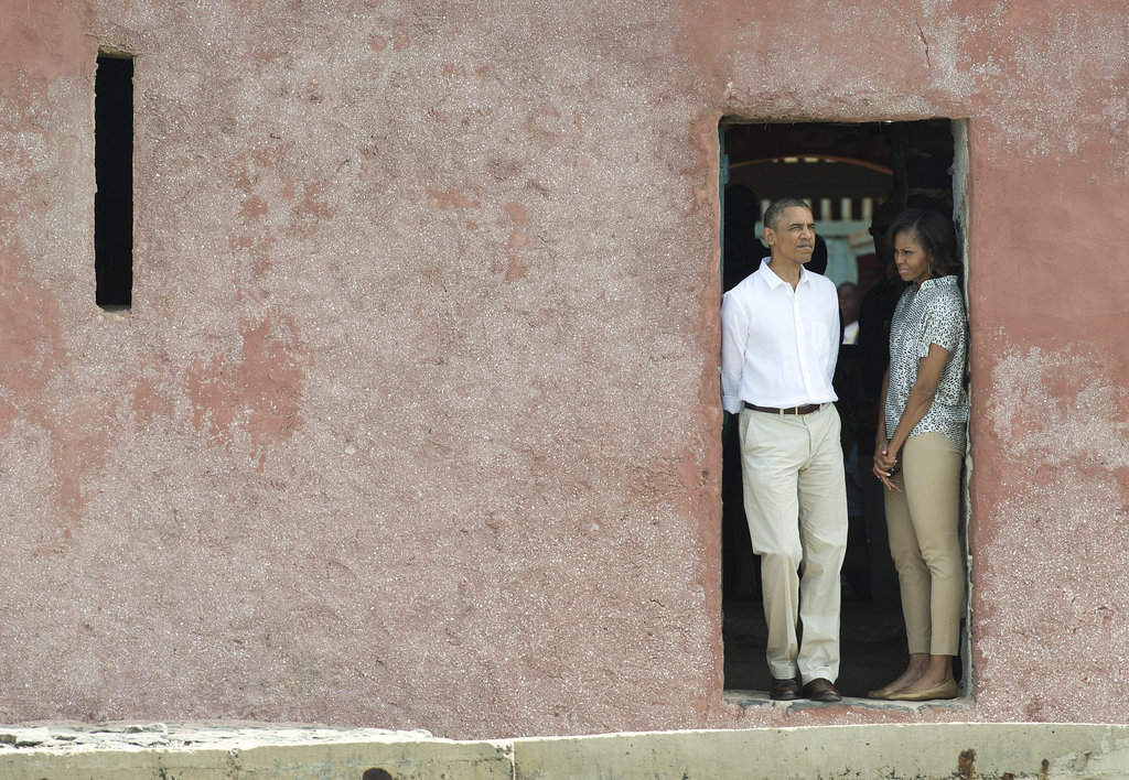While touring the House of Slaves at Gorée Island in June, President Obama and First Lady Michelle stood at the Door of No Return.