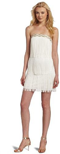 Laundry by Shelli Segal Women's Fringed Strapless Dress
