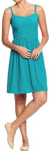 Women's Poplin-Crepe Dresses