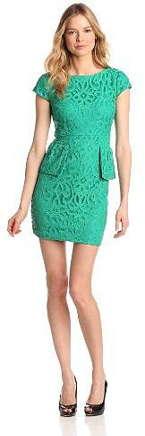 Gabby Skye Women's Lace Peplum Dress