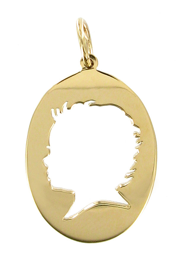 Give her a gift certificate for Vicente Agor's gorgeous silhouette necklace to have made after the baby's born.